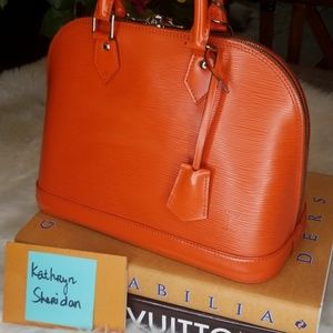 Louis Vuitton Bags - LOUIS VUITTON ALMA PM PIMENT ORANGE SILVER BAG